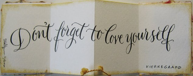 Mini love yourself quote
