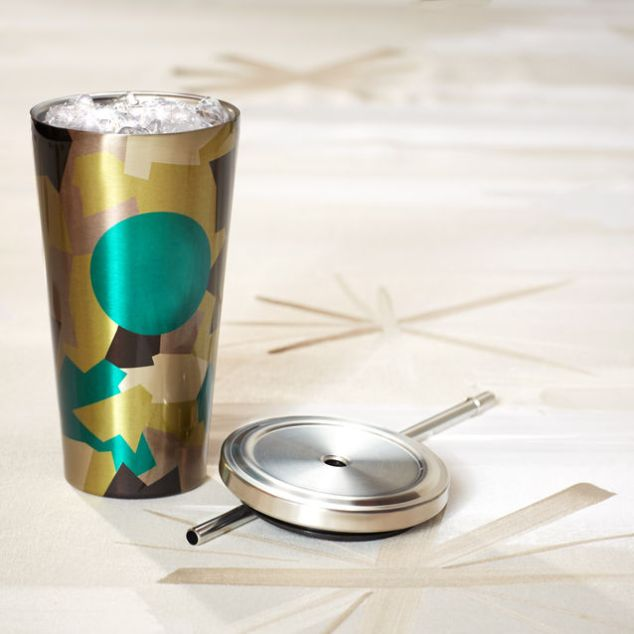 Insulated Cold Cup with Straw
